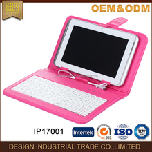 Portable 8 inch or 10 inch tablet pc cover protective case with keyboard