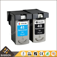 Remanufactured chip reset pg40 for canon pg40 cl41 compatible ink cartridge
