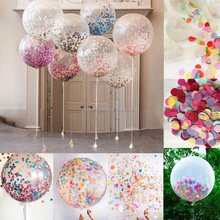 China market hot selling bobo bubble balloons with confetti and feather for party decoration