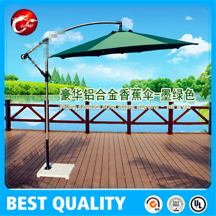 restaurant hanging umbrella 3m swimming pool parasol 10feet courtyard sunshade umbrella