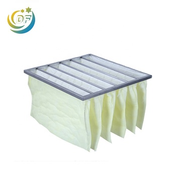 Reliable manufacturer Medium f8 efficiency air conditioner pocket rigid bag filter wholesale