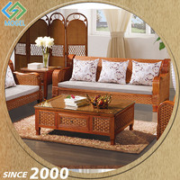 Foshan Manufacturer Low Cost Cane Living Room Furniture Sets Cheap