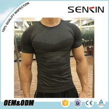 2017 compression dry fit t shirt sports mens seamless gym t shirt