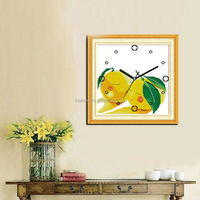 Wholesale Chinese embroidery clock cross stitch clock kits and cross stitch wall hangings