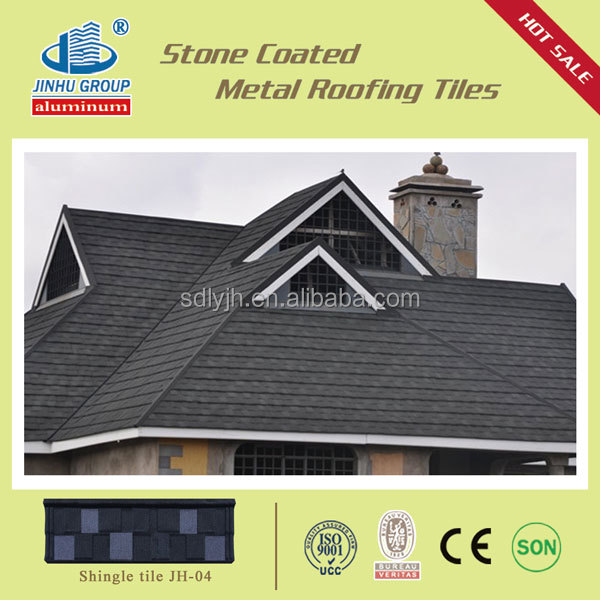 Economic roofing stone coated roofing sheet shingle tile
