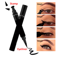 Natural liquid eyeliner with eyeliner wing stamp for private label cosmetics
