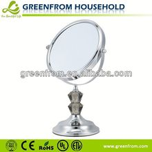7 Inch Chrome Acrylic Plastic Toy Makeup Mirror Set