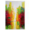 Wholesale coloful city designs modern abstract pictures in textured acrylic