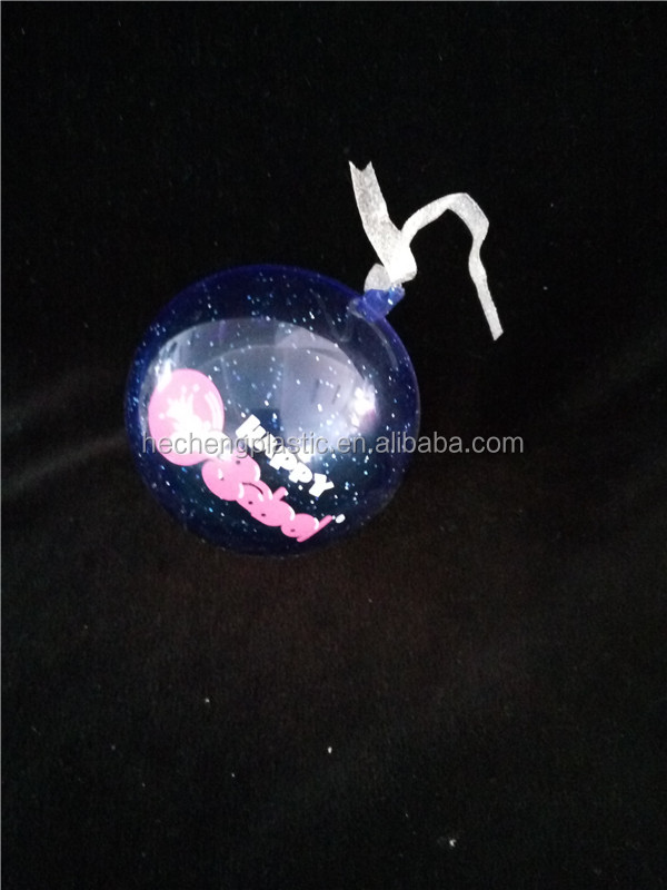 star plastictransparent christmas outerdoor decoration ball