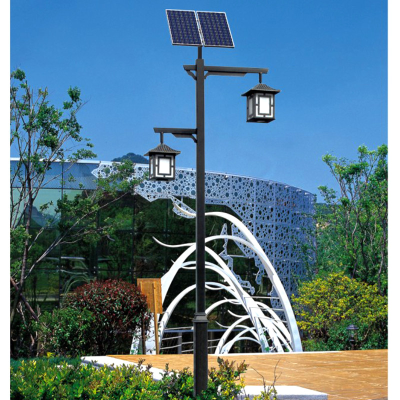 LED solar lamp garden spot lights One high and one low lamp led solar yard light