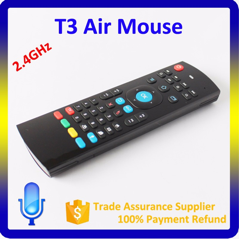 Mini remote controler 2.4g wireless keyboard T3 fly Air mouse
