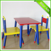 School Wooden Children Desk and chairs Set kids furniture