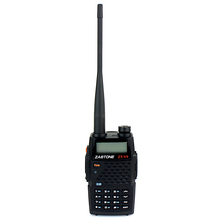 New Black Walkie Talkie Zastone ZT-V9+ VHF+UHF 136-174+400-520MHz 5W FM Radio VOX Monitor Dual Band Dual Display Two Way Radio