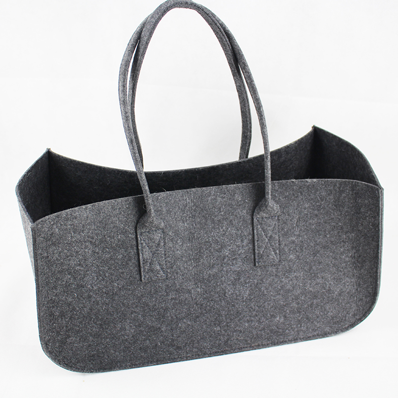 Wholesale eco promotional custom hand made polyester felt carry shopping tote gift bag woman
