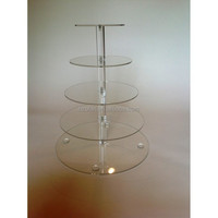 Acrylic 5 Tier Round Cupcake Stand Cupcake Tower dispaly