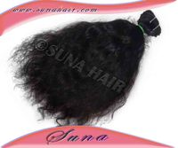 Brazilian virgin silky curly AAAA Double wefts full cuticle 100% unprocessed raw human hair