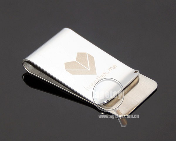 New Pocket Slim Cash Money Clip High Polished Stainless Steel Laser Custom Company Logo Metal Paper Clip