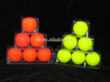 Clear plastic golf ball box packing tube