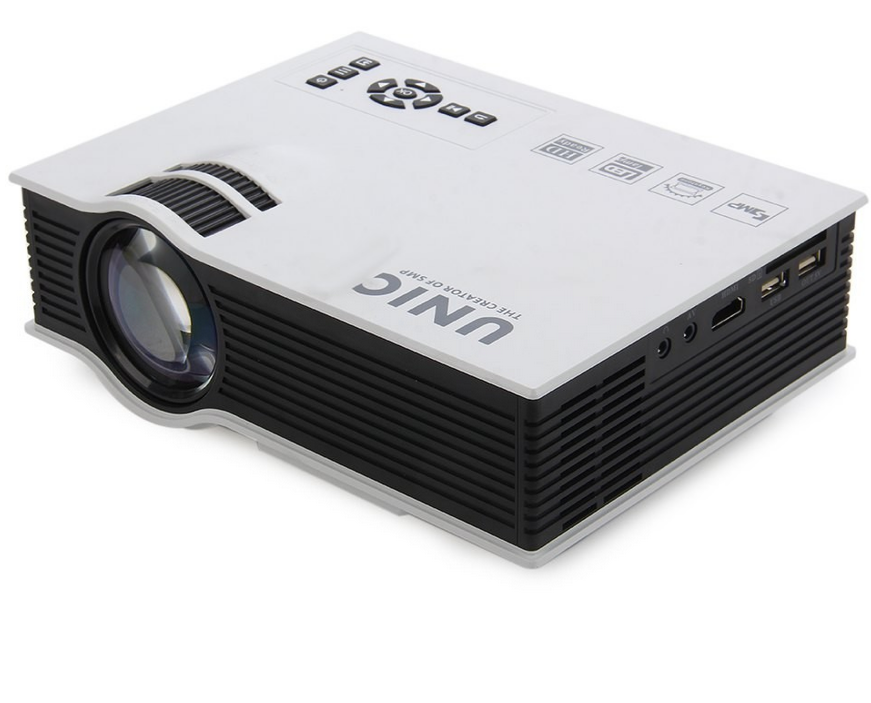 Unic UC40 Projector Portable LED LCD Home Theater USB/SD/AV/HDMI Input 800*480 Multimedia Beamer/Proyector
