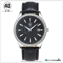 AIBI Pattern Dial Transparent Back Men's Mechanical Automatic Watch