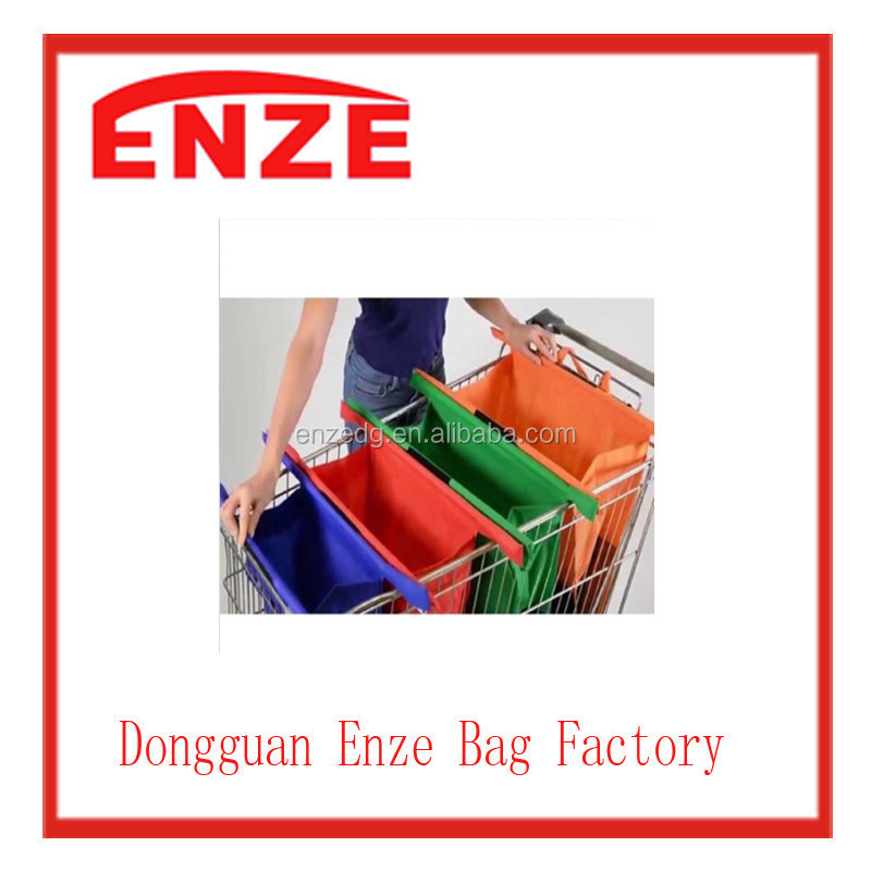 Trolley Bags Set of 4 deep large reusable supermarket shopping bottle bag NEW