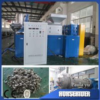 wet film squeezing machine/plastic scrap squeezer/wet film squeezing drying machine