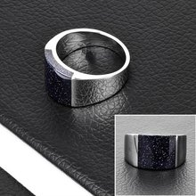 Fashion Stainless Steel Black Gemstone Ring Design Mens(DR10078)