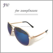 Promotion most popular European style unisex new model retro gold metal sunglasses man with cheap price
