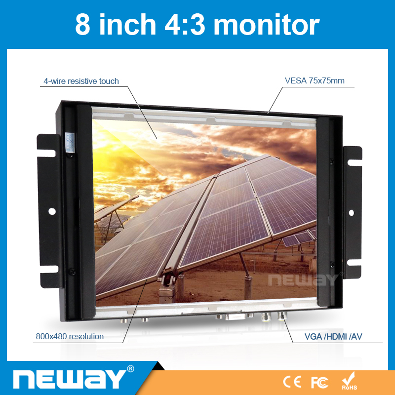 8 Inch Touch Screen TFT LCD Monitor 800*600 Open Frame Available