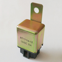 RS-028 DC12V 30A 4 Pin Automotive Air-condition Relay With Metal Bracket