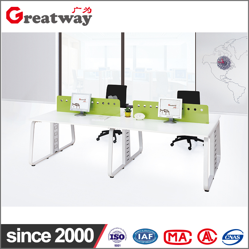 Hot sale hardware steel structure 4 people staff workstation desk