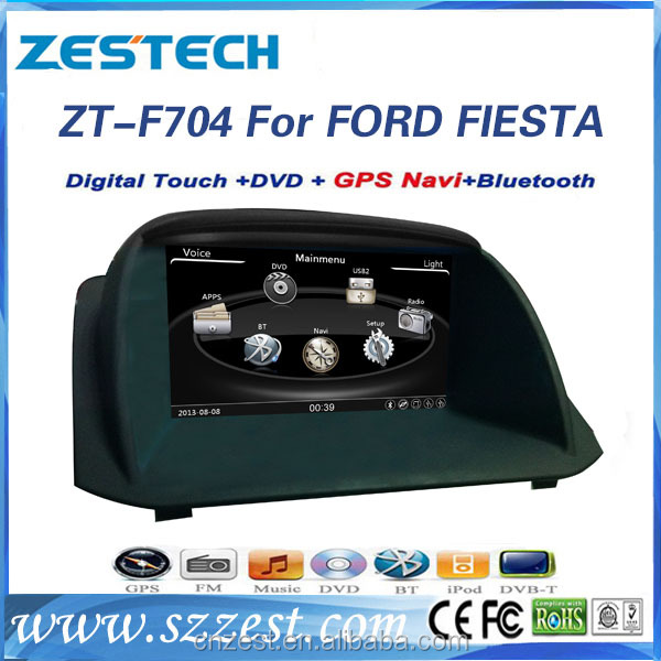 for ford fiesta car multimedia with RDS stereo audio gps navigation BT TV entertainment