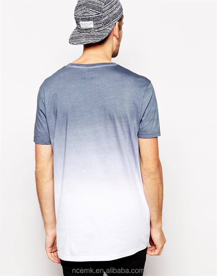 Men 39 s longline dip dye t shirt buy dip dye t shirt for Mens dip dye shirt