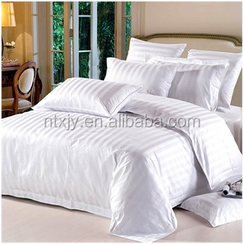 combed cotton hotel home use striped bedding sets