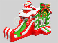 2016 Channal Original Design Christmas House Santa Claus Bounce Slide