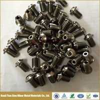 Hollow Titanium Fastener with Through Hole Titanium alloy 6Al4V Dish Head Allen Key