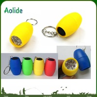 6led flashlight mini egg key chain flashlight 6 LED can print LOGO on it more colors