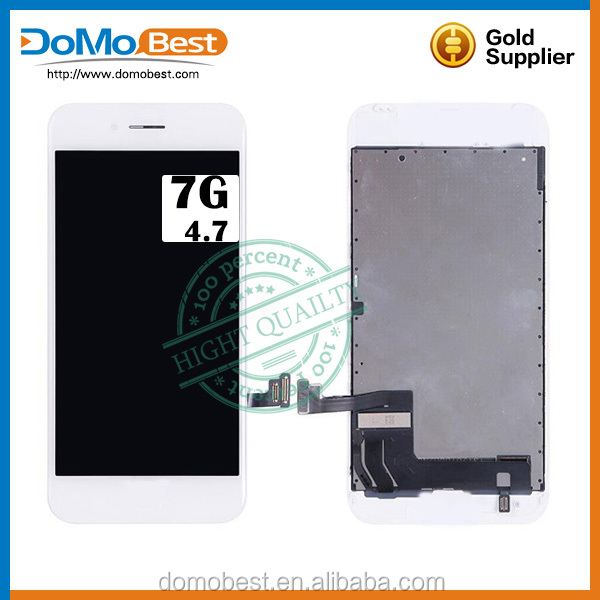 Real refurbished as oem transparent LCD display for iPhone 7 , LCD display for original iPhone 7 screen replacement
