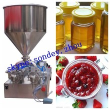 full pneumatic jam filling machine with table stand (full air filling machine for sauce, balm, paste, cheeze, butter, grease)