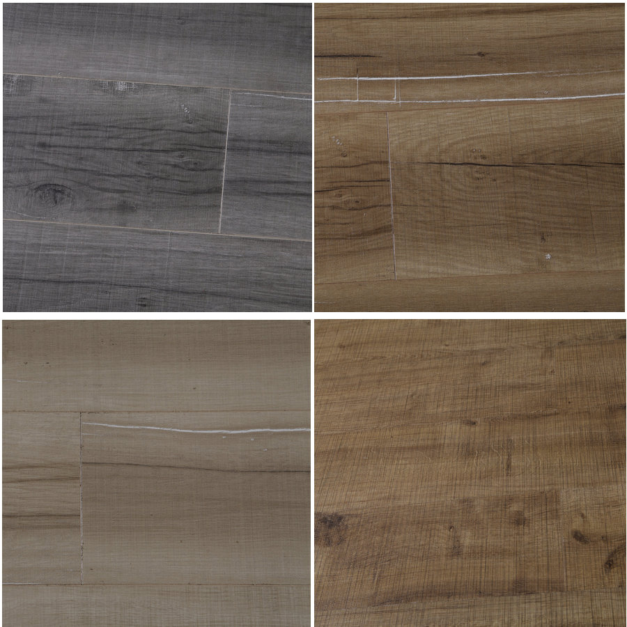 Cheap CE ISO Certified High Quality Carbonized Click New Design Saw Cut Cross Grain Artificial Wood Laminate Flooring