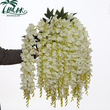 new silk artificial flower wedding decoration 5 pieces heads artificial wisteria flower