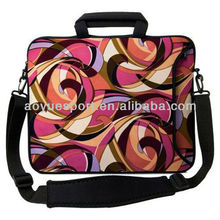 Eco-friendly neoprene laptop bag/ sleeve/ case /cover with shoulder strap and handle(factory)