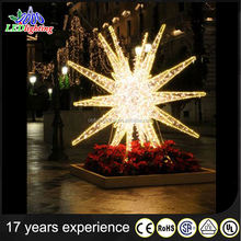 Kampuchea decorative home decor 3d light stars christmas led star shape LED motif lights wholesale