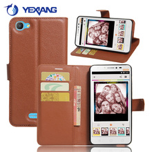Wholesale PU Leather Credit Card Stand Flip Cover Case For Alcatel Pixi 4 Plus Power
