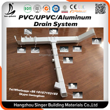 PVC UPVC Aluminum Material Plastic Pipe Fitting Name And Dimension