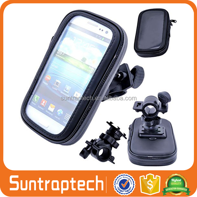 Bike Motorcycle Handlebar Bag Phone Holder Waterproof Zipper Case for iPhone 7 6 6s 5 5s Galaxy S4 S3 size up to 4.7 BWPC01