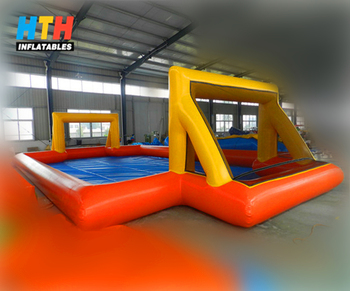 2017 air tight inflatable soap soccer field