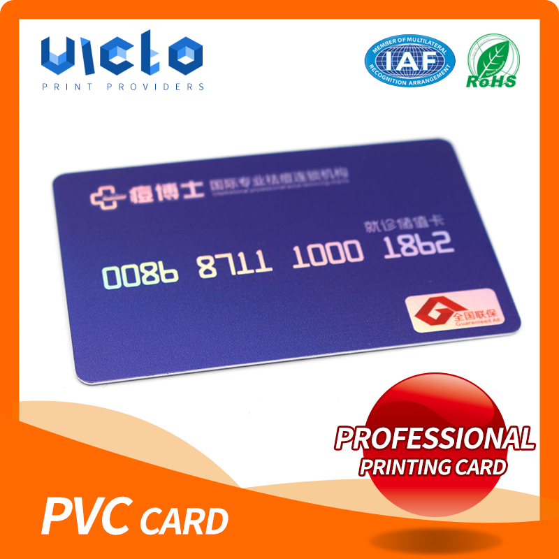 Brand new pvc card with paper backer from China famous supplier