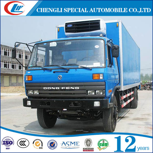 Dongfeng ice cream delivery truck big volume refrigerated van truck