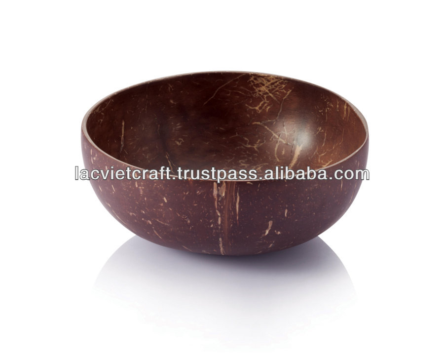 High quality eco friendly vietnamese 100% organic & natural hand-made coconut bowl with eco friendly enviroment